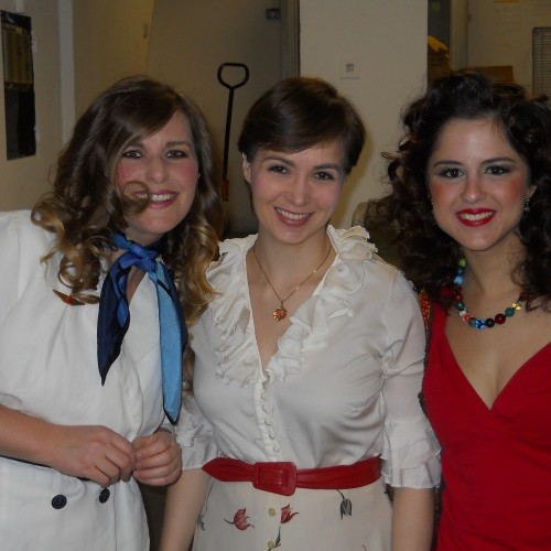 Company - Robert's 3 Girlfriends Backstage