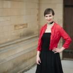 Megan Pfeiffer Miller by the Chapel door